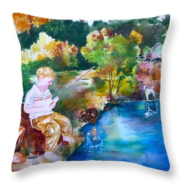 Chayton's Lake In The Woods Throw Pillow