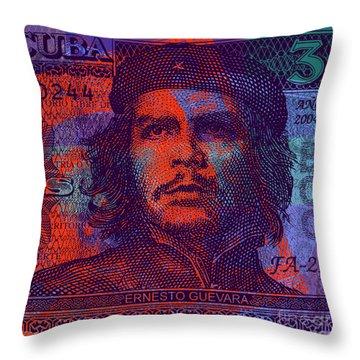 Che Guevara 3 Peso Cuban Bank Note - #3 Throw Pillow