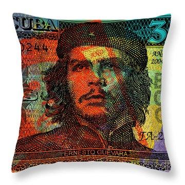 Che Guevara 3 Peso Cuban Bank Note - #1 Throw Pillow