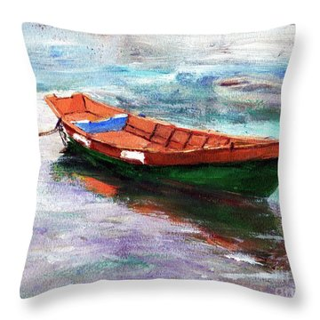 Cheapie Del Rio Throw Pillow by Randy Sprout