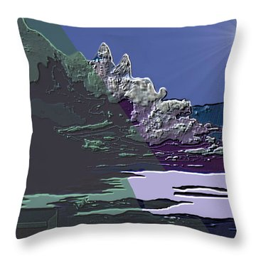 Throw Pillow featuring the digital art 1978 - Nowhere  by Irmgard Schoendorf Welch