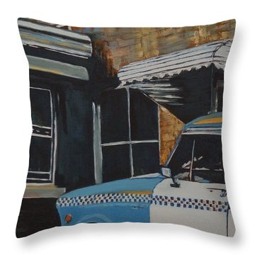 Checker Cab Throw Pillow