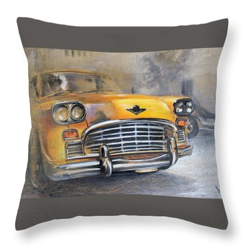 Checker Taxi Throw Pillow
