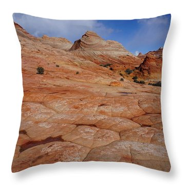 Checkered Red Rock Throw Pillow
