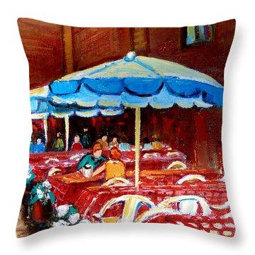 Checkered Tablecloths Throw Pillow by Carole Spandau