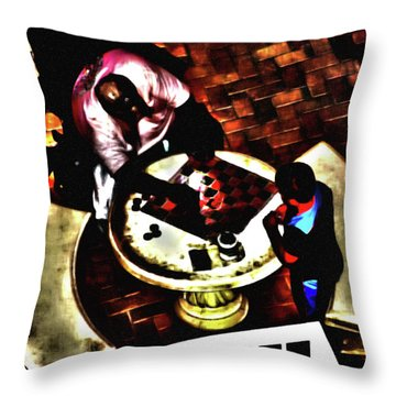 Checkers After Dark Throw Pillow