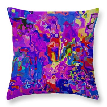 Checkers Throw Pillow by Alika Kumar
