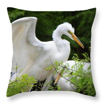 Checking-in Throw Pillow