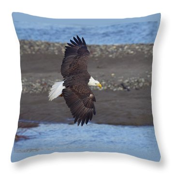 Throw Pillow featuring the photograph Checking Out The River by Elvira Butler