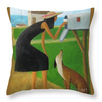 Checking The Box Throw Pillow