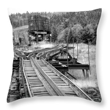 Checking The Rails Throw Pillow