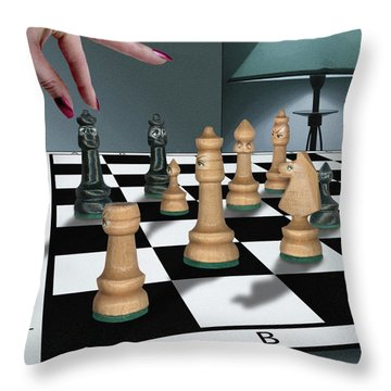 Checkmate Throw Pillow by Marty Garland