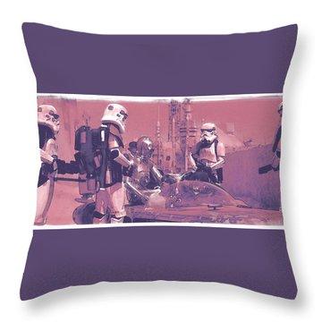 Checkpoint Throw Pillow by Kurt Ramschissel