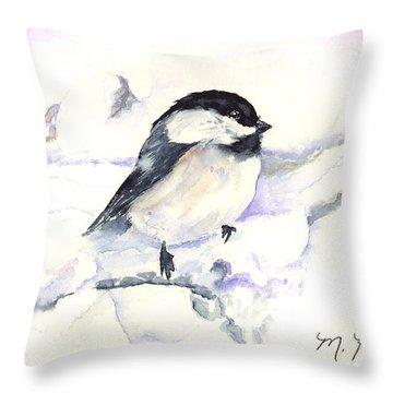 Cheeky Chickadee Throw Pillow