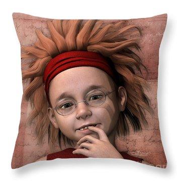 Cheeky Little Miss Throw Pillow