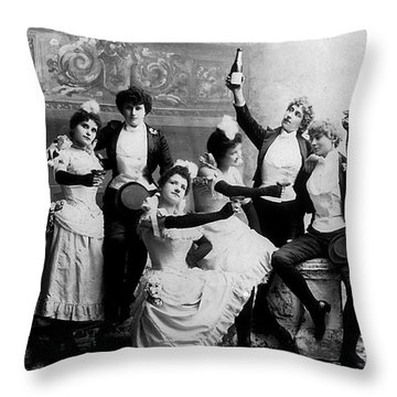 Cheers Ladies Throw Pillow
