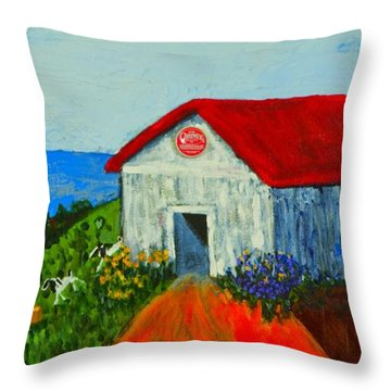Cheerwine Barn Throw Pillow