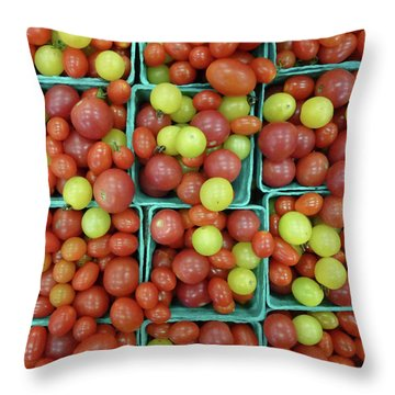 Cheery Cherry T's Throw Pillow