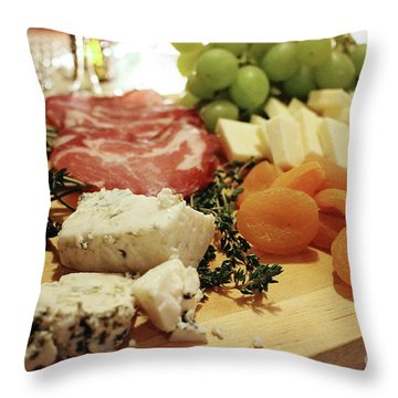 Cheese And Meat Throw Pillow