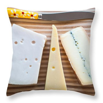Throw Pillow featuring the photograph Cheese Board by Ari Salmela