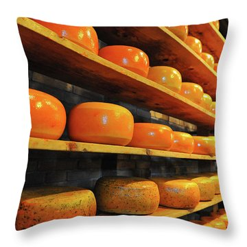 Throw Pillow featuring the photograph Cheese In Holland by Harry Spitz