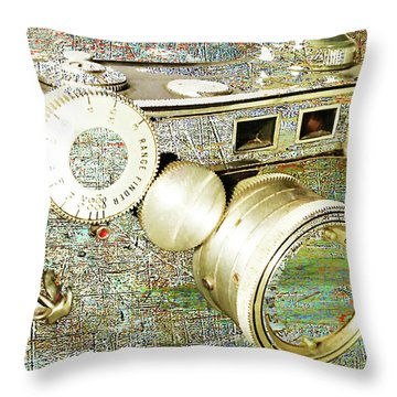 Throw Pillow featuring the mixed media Cheese by Tony Rubino