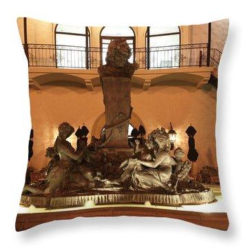 Cheesecake Factory Fountain Throw Pillow by David Dunham