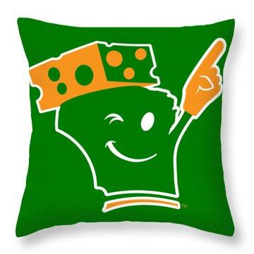 Cheeseheader Throw Pillow