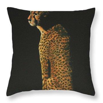 Cheetah At Sunset Throw Pillow