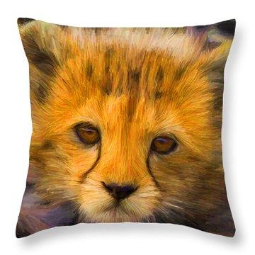 Cheetah Cub Throw Pillow
