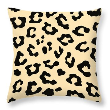 Cheetah Fur Throw Pillow by Priscilla Wolfe