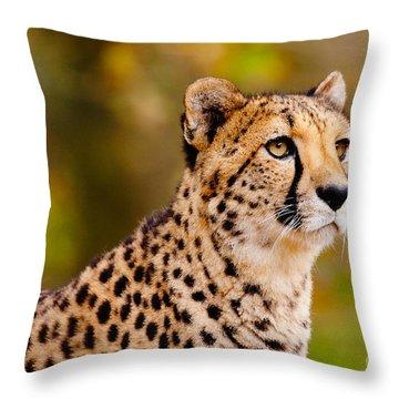 Cheetah In A Forest Throw Pillow