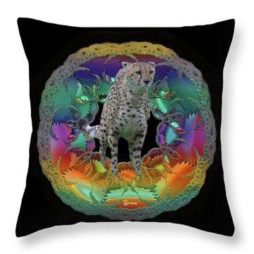 Cheetah Throw Pillow by Julie Grace