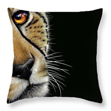 Cheetah Throw Pillow by Jurek Zamoyski