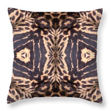 Cheetah Print Throw Pillow by Maria Watt