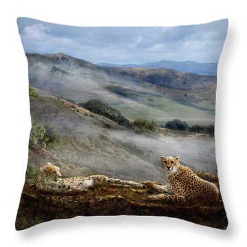 Cheetah Ridge Throw Pillow
