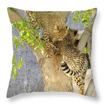 Cheetah Traffic Jam Throw Pillow