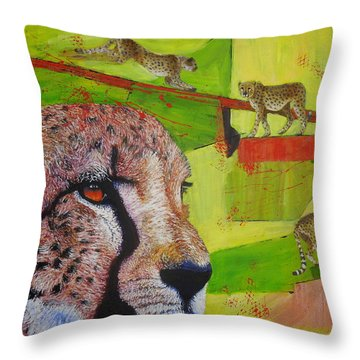 Cheetahs At Play Throw Pillow