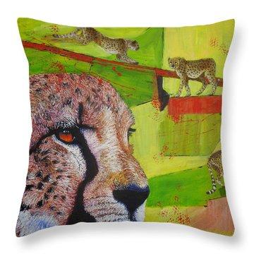Cheetahs At Play Throw Pillow