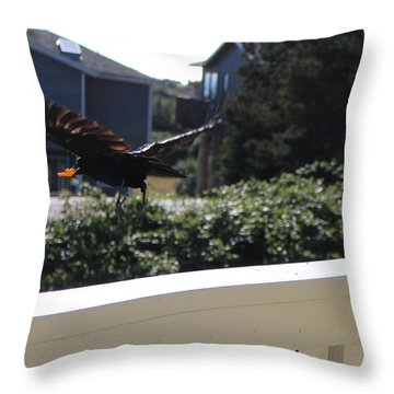 Throw Pillow featuring the photograph Cheeto Bandido by Marie Neder