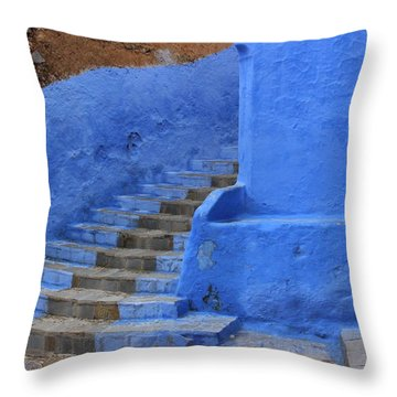 Throw Pillow featuring the photograph Chefchaouen by Ramona Johnston