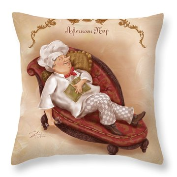Chefs On A Break-afternoon Nap Throw Pillow