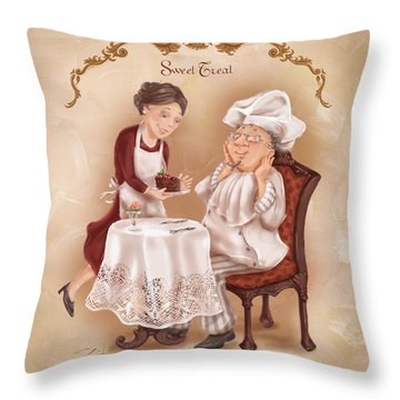 Chefs On A Break-sweet Treat Throw Pillow