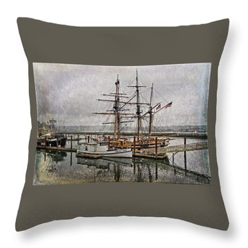 Chelsea Rose And Tall Ships Throw Pillow