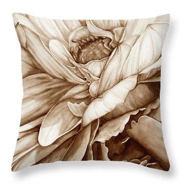 Chelsea's Bouquet 2 - Neutral Throw Pillow