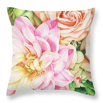Chelsea's Bouquet Throw Pillow