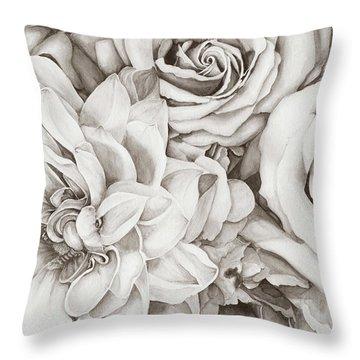 Chelsea's Bouquet - Neutral Throw Pillow