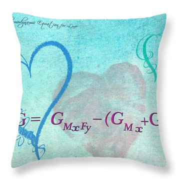 Chemical Thermodynamic Equation For Love Throw Pillow