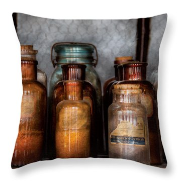 Chemist - Various Chemicals Throw Pillow by Mike Savad
