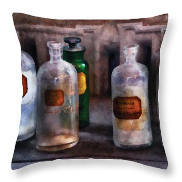 Chemistry - Saturated Solutions Throw Pillow by Mike Savad
